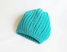 Knitting slouchy gorgeous blue hat For  winter and by aynikki, $29.00