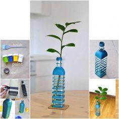 :) reciclando una botella o mas bien haciendola lucir mejor ^.^