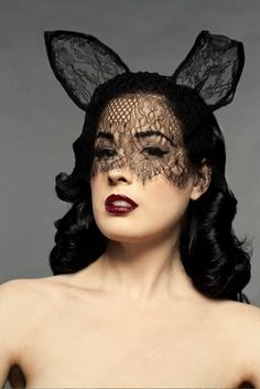 Dita as a lace bunny.
