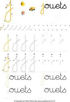 Apprendre à écrire les lettres cursives en maternelle