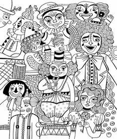 Coloriage Adulte Cirque.29 Meilleures Images Du Tableau Le Cirque Se Fait La Malle Art