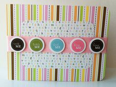 New Baby Girl Card Handmade Baby Card Baby Shower Card by inamood, Totally love this baby girl card!
