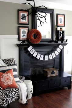 Halloween Mantel Decoration Ideas