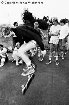Summercamp 1981 Per Holknekt, Railflip. Notice Lillis and Per Welinder in the background. And Mike McGills