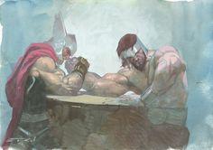 Thor vs Hercules by Esad Ribic