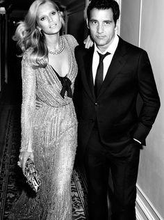 Passionate Parisian Couple - The Clive Owen and Toni Garrn Vogue Spain Shot Clive Owen, Toni Garrn, Elie Saab, Vogue Spain, Mode Editorials, Fashion Editorials, Vintage Glamour, Vintage Vogue, Vintage Fashion