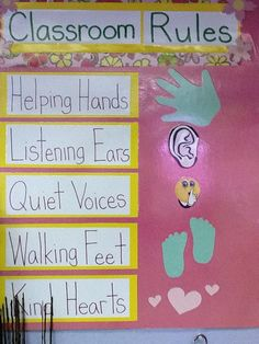 Preschool Classroom Rules | Another way to display Classroom Rules