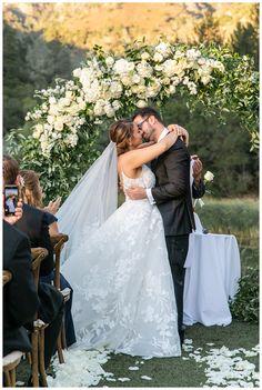 Wine Country Ceremony at Calistoga Ranch Wedding Ceremony Arch, Outdoor Ceremony, Country Wedding Flowers, Floral Wedding, Calistoga Ranch, Floral Chandelier, Reception Design, Cream Wedding, Wedding Designs
