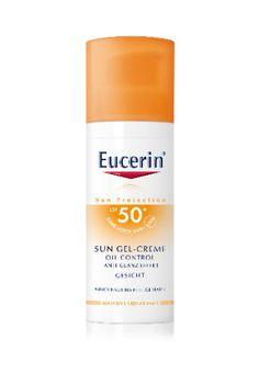 Fühlt sich wie eine leichte Tagescreme an: Sun Gel-Creme LSF 50+ von Eucerin, um 18 €.