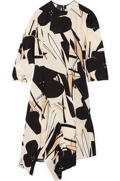MARNI Asymmetric Printed Faille Dress. #marni #cloth #dress