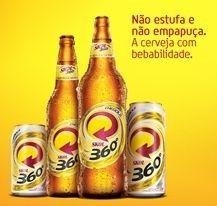 Cerveja Skol 360º, estilo Standard American Lager, produzida por AmBev, Brasil. 4.2% ABV de álcool.