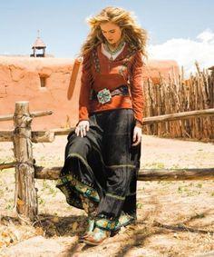 CROW WOMAN'S LONG SKIRT - Cowgirl Kim