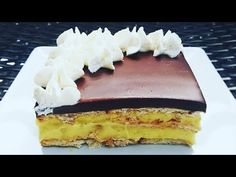 Prajitura ecler in 10 minute fara coacere Romanian Desserts, No Cook Desserts, Eclairs, Cheesecake, Vanilla, Deserts, Oven, Sweets, Make It Yourself