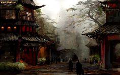 Asian architecture China Chinese guild Guild Wars katana nightfall ninjas r 4k full hd iphone android wallpaper