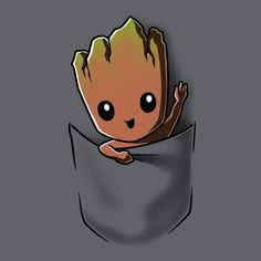 Groot Pocket T-Shirt Marvel TeeTurtle Cute Disney Drawings, Cute Animal Drawings, Cute Drawings, Disney Character Drawings, Cute Disney Wallpaper, Cute Cartoon Wallpapers, Marvel Drawings, Marvel Wallpaper, Cute Wallpaper Backgrounds