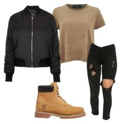 """""""Untitled #226"""" by kingrabia on Polyvore featuring MINKPINK, Timberland and Topshop"""