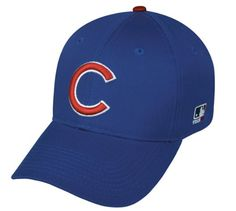 c9bb27ee9dc302 Chicago Cubs ADULT Adjustable Hat MLB Officially Licensed Major League  Baseball Replica Ball Cap
