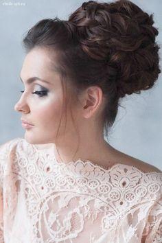 topknot bun wedding hairstyle / http://www.deerpearlflowers.com/wedding-bridal-hairstyles-for-long-hair/