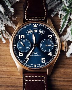 """Happy holidays from IWC! Discover the IWC Big Pilot's Watch Annual Calendar Edition """"Le Petit Prince""""."""