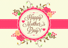 Korean Font Mother's Day greeting card invitations hand-painted background material