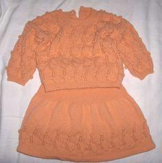 Completo con gonna - Abitino due pezzi realizzato a maglia.