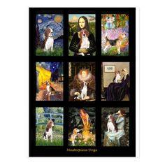 Famous Art Beagle Comp 1 Postcard  corgi puppy cutest, hunting puppy, puppy 101 #pets #catdogs #beagleworld, back to school, aesthetic wallpaper, y2k fashion Beagle Art, Beagle Funny, Beagle Puppies, Woodstock, Golden Retriever Gifts, Golden Retrievers, Beagle Gifts, Shetland Sheepdog, Famous Art