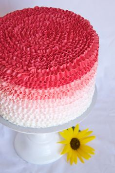 Sara Elizabeth Cakes and Sweets: Ombre Buttercream Ruffle Cake Tutorial