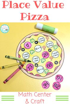 Practice first grade place value skills with this fun pizza themed math center and craft.