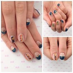 "20 mentions J'aime, 2 commentaires - Nail Bub (@bub_shigeyama_ai) sur Instagram : ""#BUBNAIL 이달의 아트 격있게 깔끔디자인 다양하게 준비되여 있는 이달의 아트 많이 이용해주세요 주소:강남구 신사동 664-20 Tel : 02-543-051…"" Asian Nail Art, Asian Nails, Fall Nails, Beautiful Nail Art, Full Face, Nail Arts, Nails Design, Playing Dress Up, Nail Ideas"