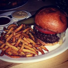 Hell yeah that's a brisket short rib burger at The Emerson - Toronto