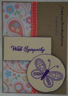 With Sympathy Card Handmade Card. $3.00, via Etsy.