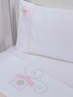 Lençol de berço Passarinho - Maison Baby (3 peças)