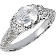 Unique Jewel as rare as The Woman Who wears it, Mesmerize her with The Jewelry Hut Fancy Designer Antique Retro Hand-Engraved Vintage Style Diamonds, The most Precious of Gems, set in 14 KT White Bridal Engagement (Semi-Mount) Ring Featuring 16 Genuine Brilliant Round Shape Sparkling Diamonds, 1/6 CTTW.  Uncompromising Style and Elegance of Tres Chere inspired Fashion jewelry Luxury that Captures her Style and Expresses her Attitude.