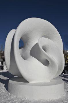 Snow Sculpture - backward - one twisted shape