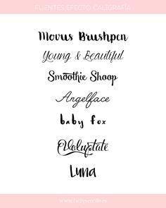 Preciosas fuentes estilo caligrafía a mano gratuitas @facilysencillo #tipografia // Free calligraphy fonts