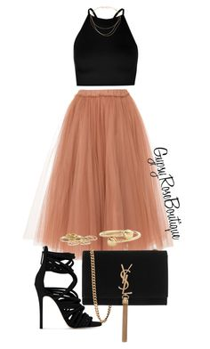 """#767"" by gypsyroseboutique on Polyvore featuring N°21, Boohoo, Tiffany & Co., Yves Saint Laurent, Giuseppe Zanotti, J.W. Anderson and River Island"