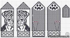 Варежки с собаками к Новому году. - запись пользователя Зарница (Людмила) в сообществе Вязание спицами в категории Вязание спицами аксессуаров
