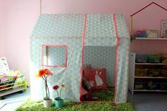 petite cabane en bois et en tissu diy