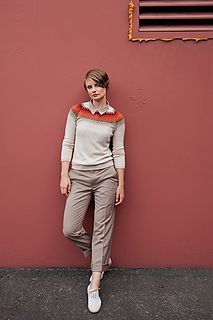 Inspired by Bohus knitting, Cliff is the modern way to wear colorwork. Worked in the traditional way from the top down, it's a straightforward knit for those with a bit of experience. Pebble's composition of cashmere, recycled silk, and fine merino creates a luxurious, non-prickly fabric that is a delight to wear. Create an heirloom quality sweater in full or 3/4 length sleeves; both versions are included in the pattern.
