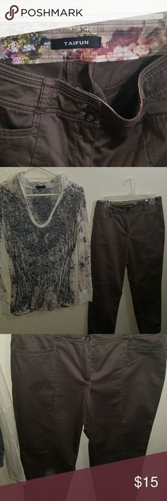 Dressy pants and hoddie shirt take shirt free with Cute good condition shirt size M taifun Pants Skinny