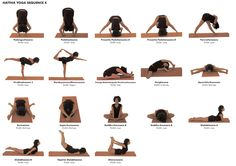 This webpage - London Yogi - has a good variety of beginner Hatha Yoga sequences. Keeps it interesting doing different sequences each day. Hatha Yoga Poses, Ashtanga Yoga, Yoga Sequences, Pranayama, Yoga Flow, Yoga Meditation, Pilates Workout, Workout Mix, Workouts