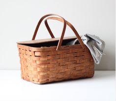 Check out church sales and flea markets to find these oldie but goodies. I love a good picnic basket
