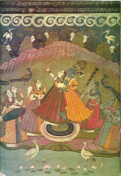 Heritage of India: Rajasthani Miniature Paintings prints set of National Museum New Delhi Rajasthani Miniature Paintings, Rajasthani Painting, Rajasthani Art, Islamic Paintings, Indian Paintings, Sanskrit, Kerala Mural Painting, Silk Painting, India Art