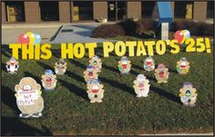 happy birthday yard greetings lawn yard hot potato signs rental