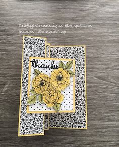 craftykarendesigns: Pretty True Love Fun Fold Card Fancy Fold Cards, Folded Cards, White Paneling, Card Tutorials, Card Templates, Stampin Up, True Love, Your Cards, Thank You Cards