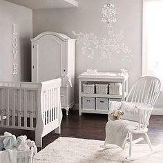 Baby Room Decoration #white #grey #yellow #neutral #unisex