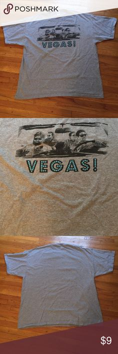 Men's Shirt Men's Very Gently Used Shirt. Size:XL. From the movie bachelor party! Actors are on front of Shirt with the words Las Vegas. Color is Heather gray. Short sleeve. Crew neck. 90% cotton. 10% polyester. Machine wash. Tumble dry. NO TRADES. Shirts Tees - Short Sleeve