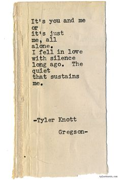Typewriter Series #1877 by Tyler Knott Gregson Wildly Into the Dark is out now! Snag a copy!