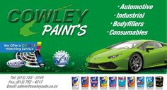 All different kinds of paints available.
