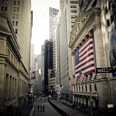 Wall Street, New York. This is the only street in America where one can become rich in seconds. I would love to go and see the iconic stock exchange and witness all of the rich New York Wall Street employees.